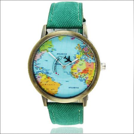 خرید پستی ساعت مچی طرح نقشه