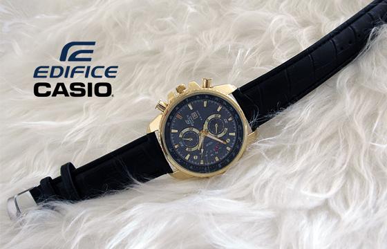 خرید پستی ساعت کاسیو بند چرم - مدل EF-558