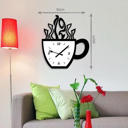 ساعت دیواری طرح قهوه