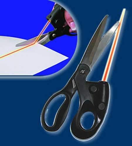 قیچی لیزری Laser Scissors با نمایشگر خط مستقیم لیزری